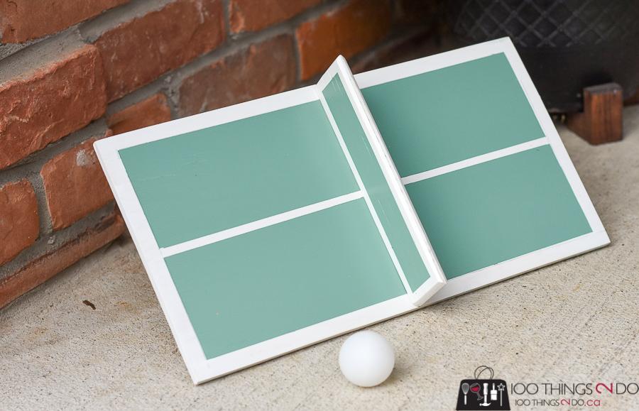 Mini ping pong / one-man ping pong, DIY ping pong, backyard games, backyard fun, scrap wood project