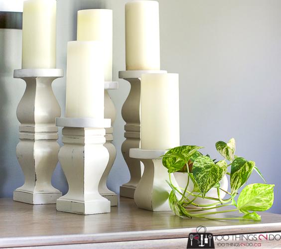 DIY Candle Holders Rustic Sticks Repurposed Table Legs