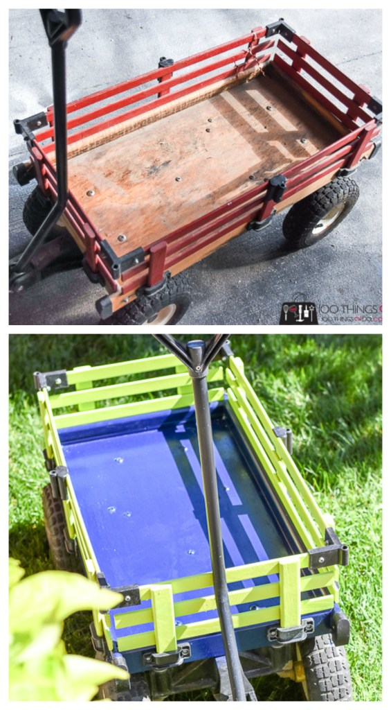 Classic kids wagon, wagon makeover, wood wagon for kids, painted wagon, painted wood wagon, painted kids wagon, kids wagon makeover