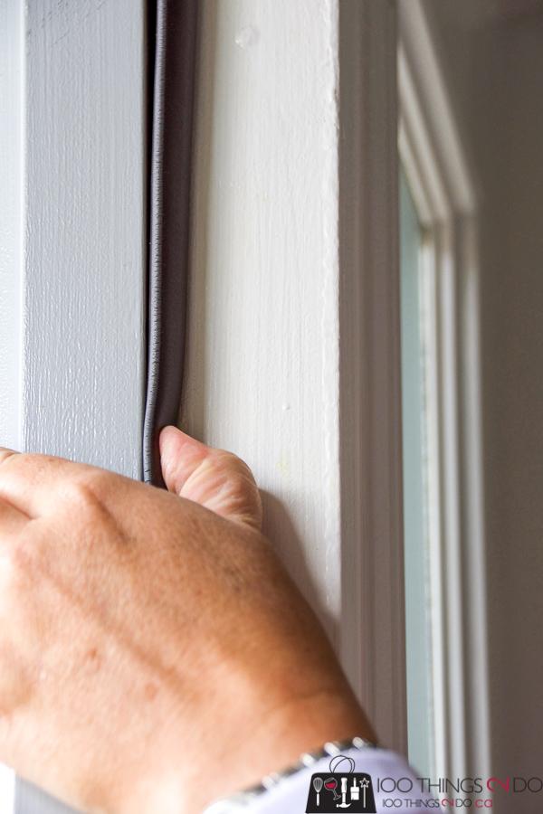 Installing weatherstrip around front door