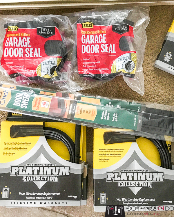 M-D Building Products, weatherstripping, garage seal, front door seal, cinch strip