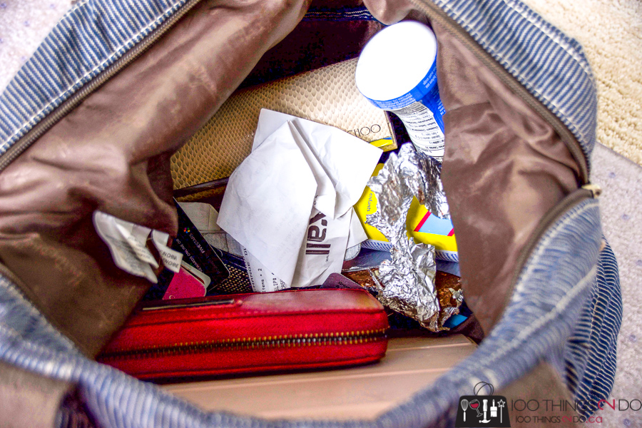 Organizing your purse, purse organization, purse hacks