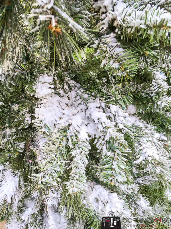 Adding snow to an artificial Christmas tree, flocking an artificial tree, DIY flocked Christmas tree, Christmas tree flocking, adding artificial snow to your Christmas tree