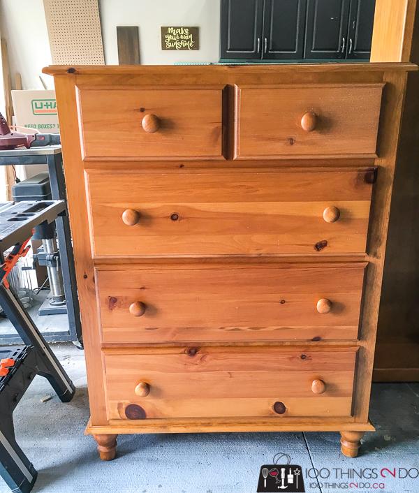 Knotty pine tallboy, knotty pine dresser