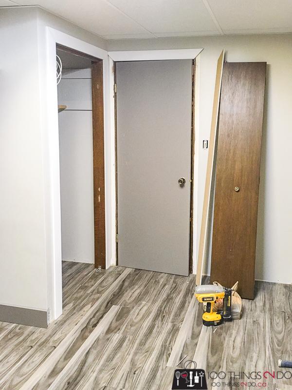 installing casing around door