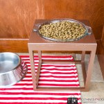 Pet food stand, raised pet food, raised pet feeder, dog bowl stand