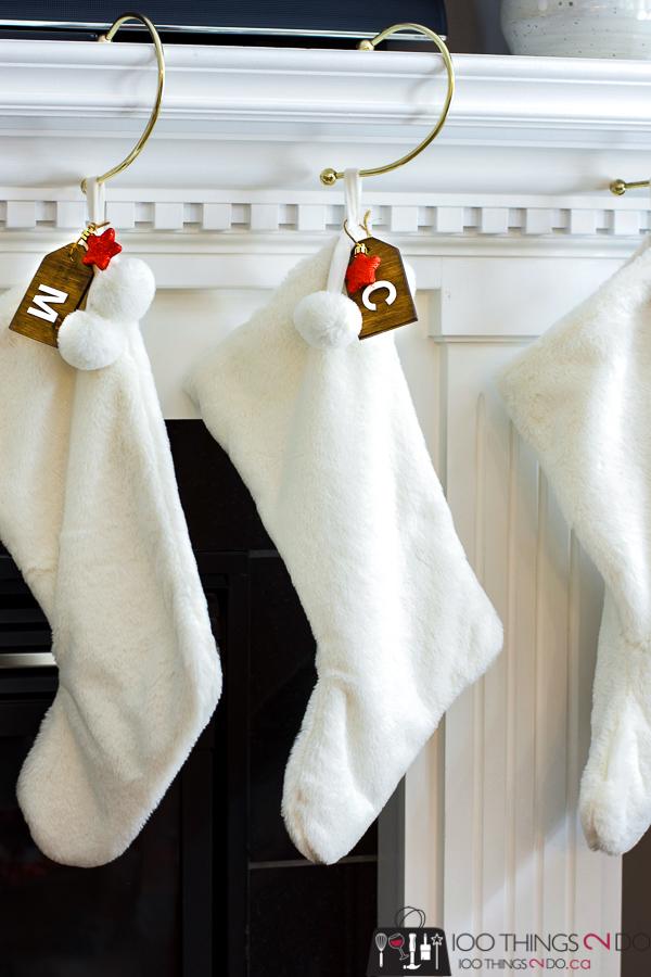 Stocking tags, Christmas stocking tag, wood stocking tags, wooden tags, DIY stocking tags