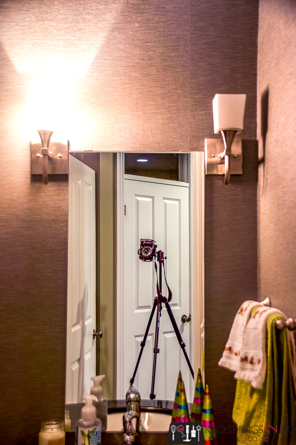 swapping out sconces, replacing bathroom sconces, how to replace a sconce, update bathroom lighting