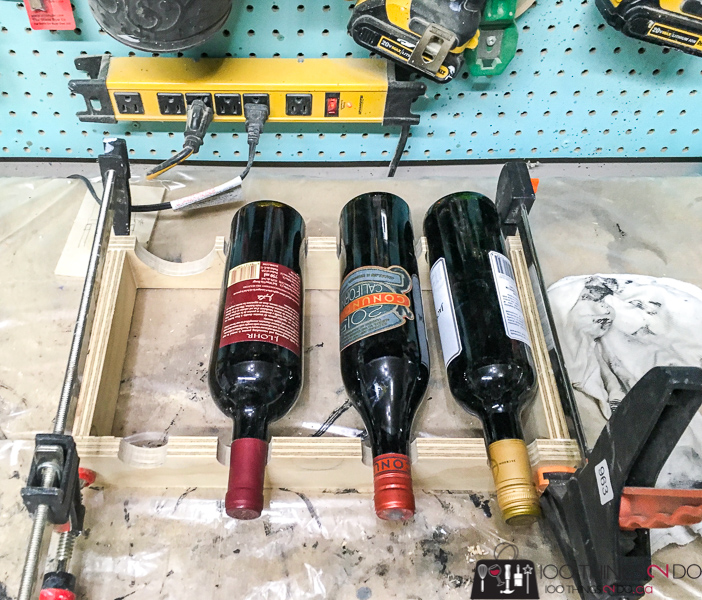 DIY wine rack, scrap wood wine rack, small wine rack, wine rack