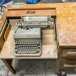 Antique typewriter desk, vintage typewriter desk, refinished typewriter desk