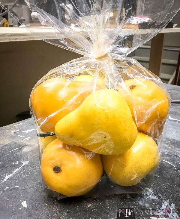 Plastic pears