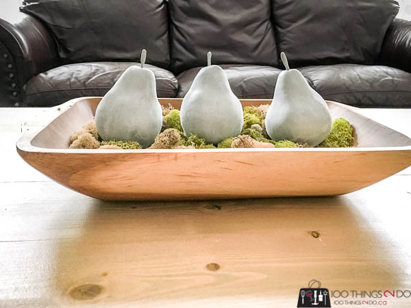 Cement pears, concrete pears, cement spray paint, pears in decor
