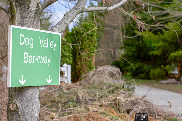Funny sign, funny street sign, Dog Valley Barkway, Don Valley Parkway