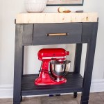 Portable kitchen island, kitchen island, portable prep station, prep station, endgrain butcher block, DIY kitchen cart