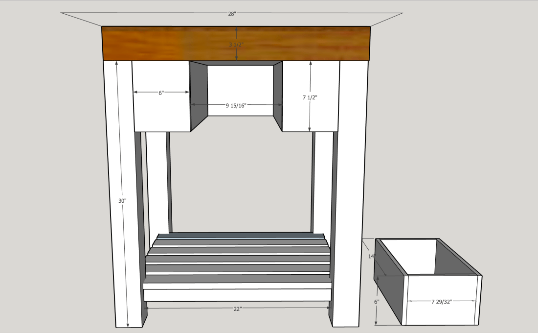 Building plans for portable kitchen island