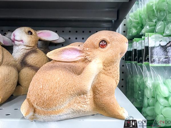 dollar store rabbit statues