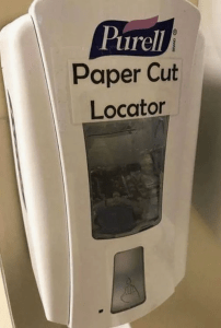 Too funny - paper cut locator