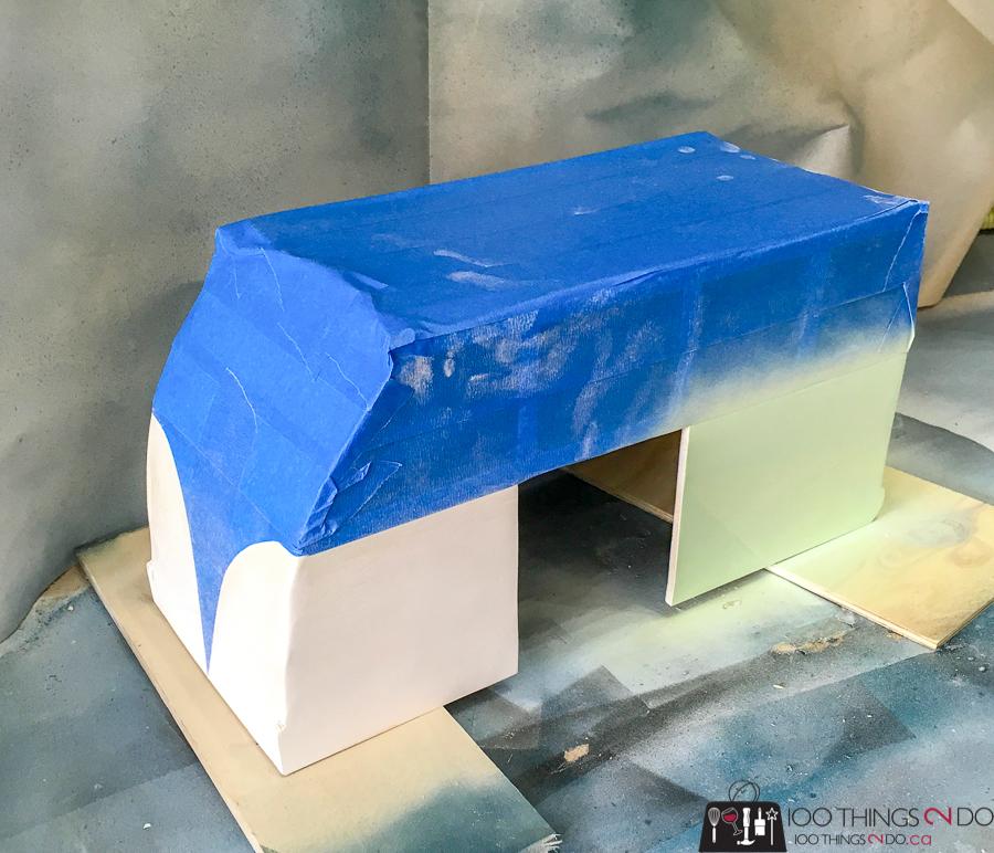 DIY Guinea Pig hide, guinea pig fort, VW Bus