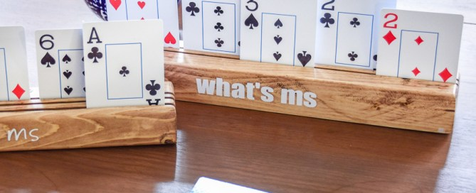 Playing card holder, card holder , wood playing card holder, DIY playing card holder