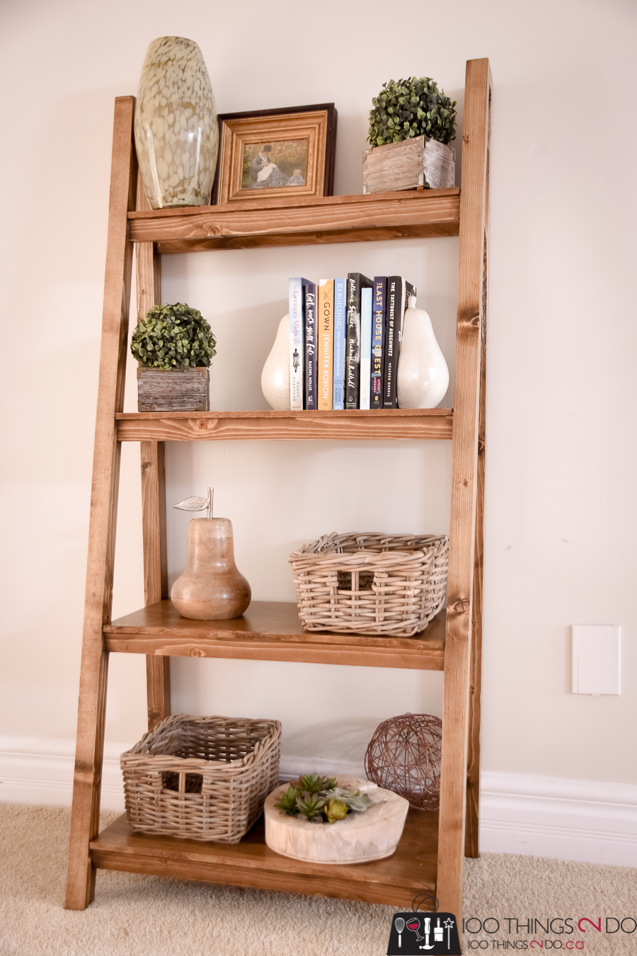 Freestanding bookcase, freestanding bookshelf, DIY bookcase, angled bookcase