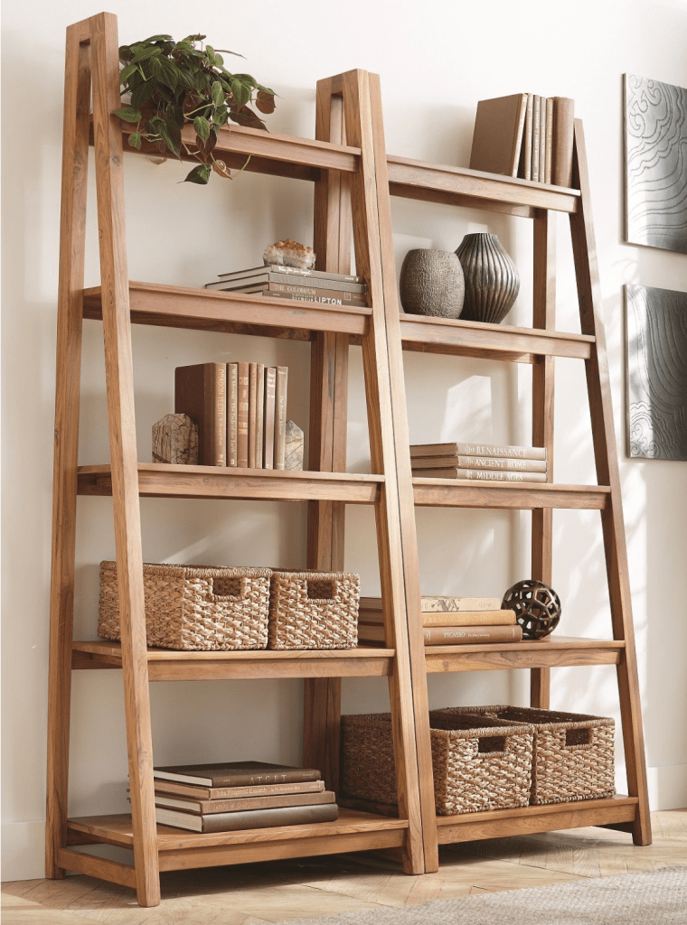 Strut Teak bookcase, Crate & Barrel