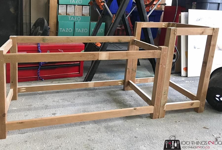 frame for porch planter bench