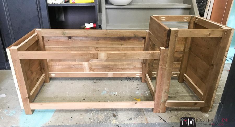 building a porch planter bench
