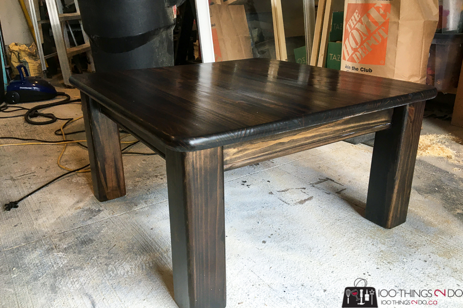 Refinishing a curb find coffee table