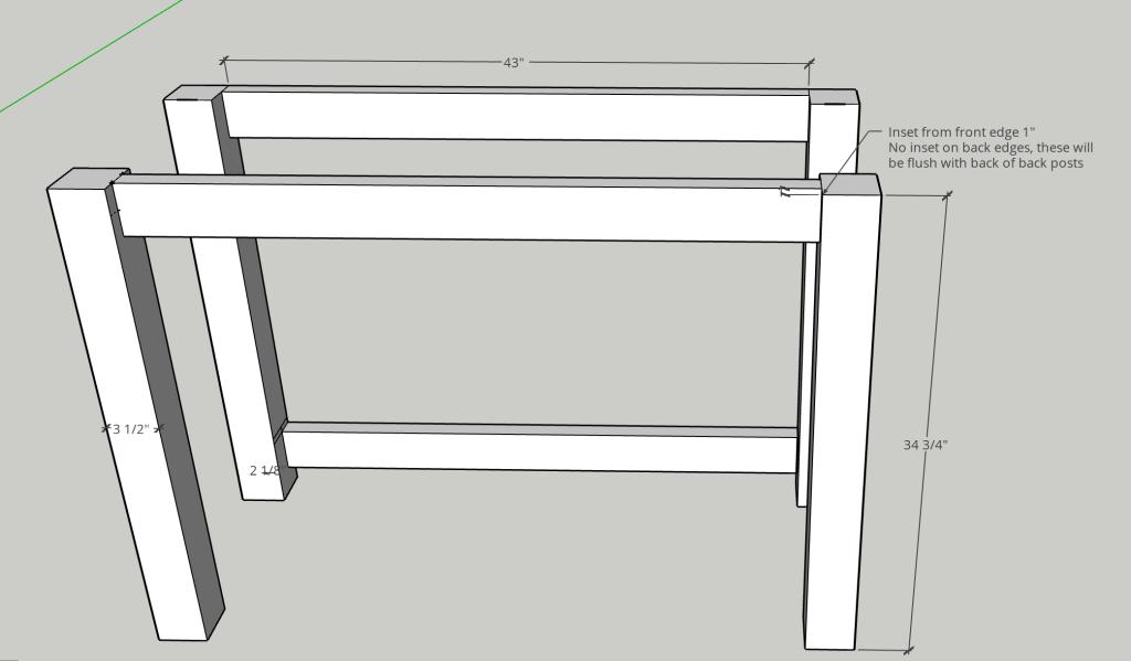 DIY kitchen island, DIY kitchen console, kitchen bar