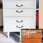 Tallboy makeover, tallboy dresser makeover, tallboy dresser before and after