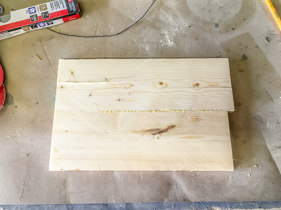 laminate 2 boards together and clamp until dry