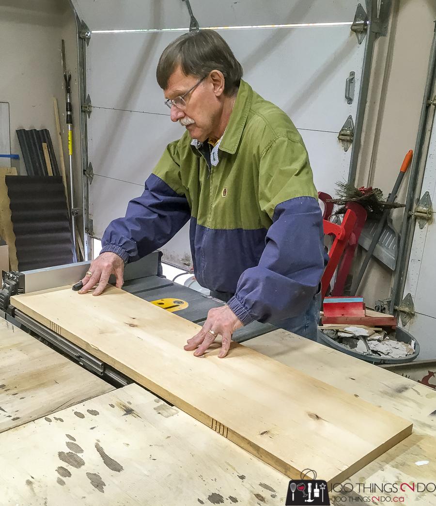 cutting kerfs before bending wood