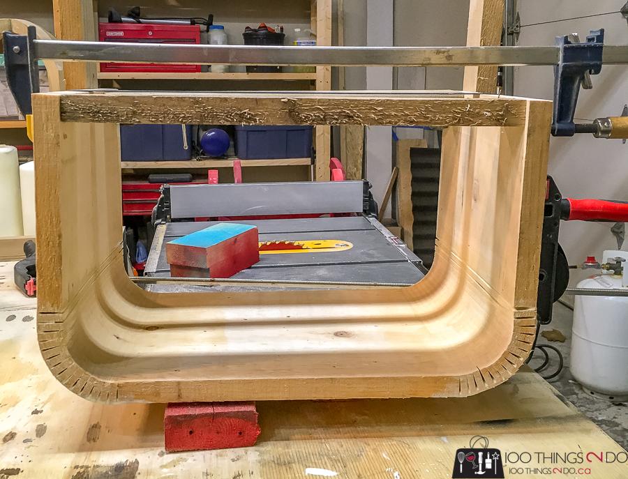 bending wood for a lap desk