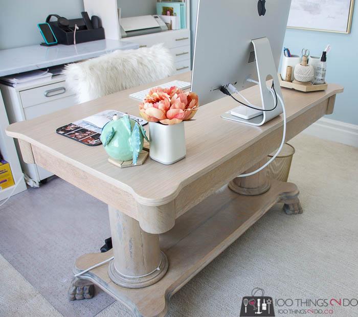 antique desk makeover, refinishing an antique desk