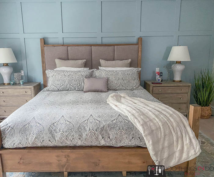 "Master bedroom makeover, Behr ""Watery"""