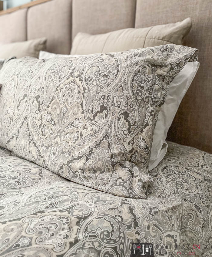 Pottery Barn Mackenna Paisley in taupe