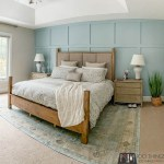 "Master bedroom makeover, Behr ""Watery"", Benjamin Moore ""Pale Oak"""