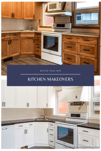 Kitchen makeover, painted kitchen, kitchen before and after