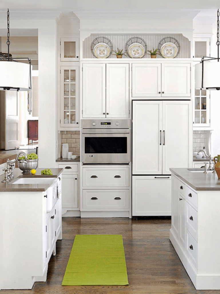 Styling above kitchen cabinets