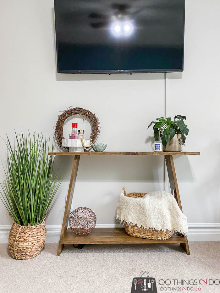 DIY console table, DIY sofa table