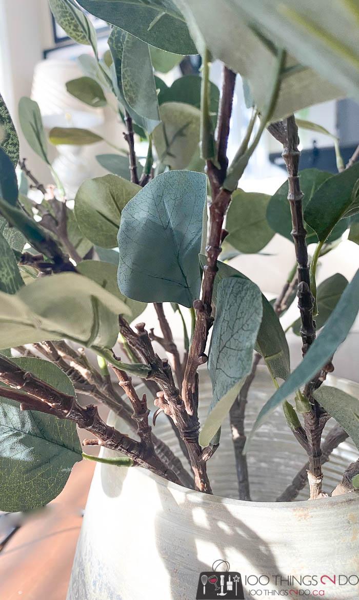 faux greenery, faux greens, faux plants, fake plants, fake stems