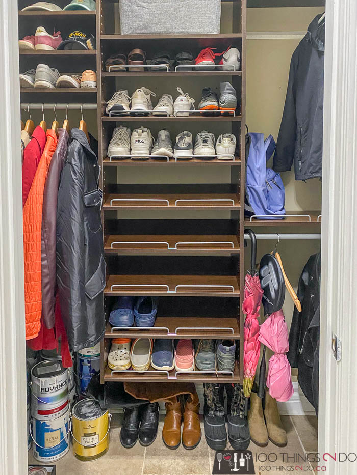 how to build mudroom storage, how to build a mudroom built-in, mudroom storage around a fridge