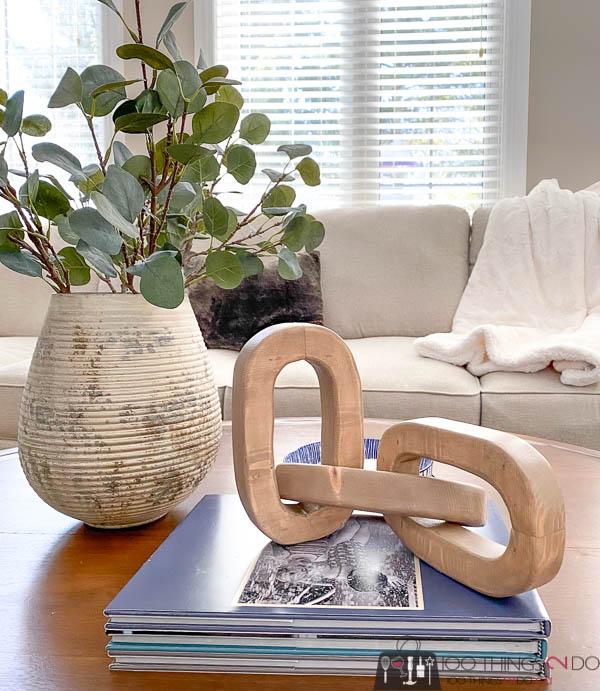 wooden chain, wood chain, DIY decor chain, wood chain links