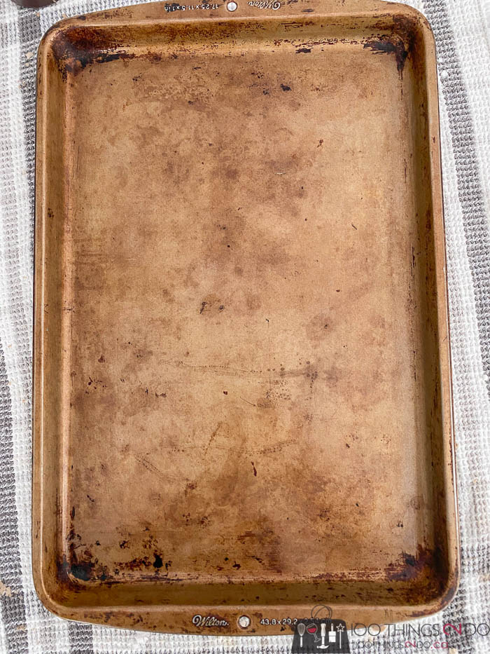 dirty cookie sheet