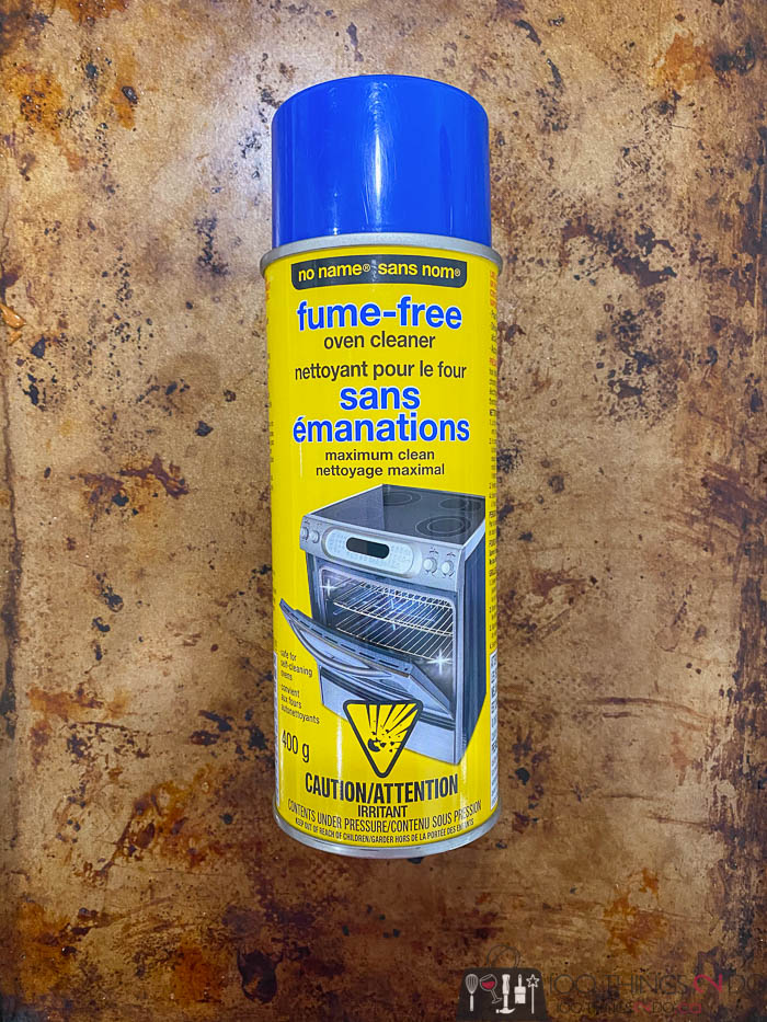 oven cleaner to clean a cookie sheet