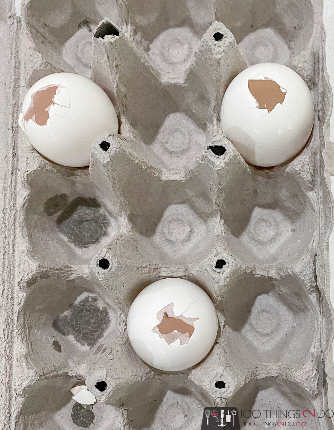 drilling holes in eggs