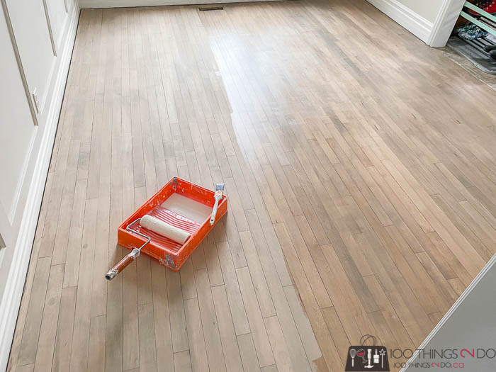 adding clear coat to hardwood floors, Stays clear