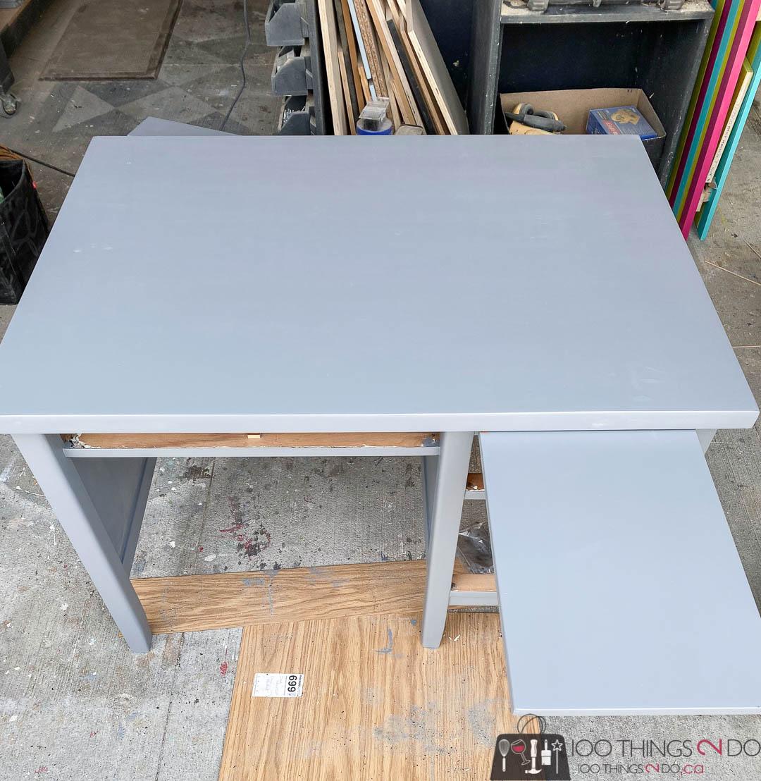 primer on a desk makeover