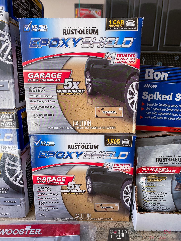 Rust-Oleum EpoxyShield garage coating kit