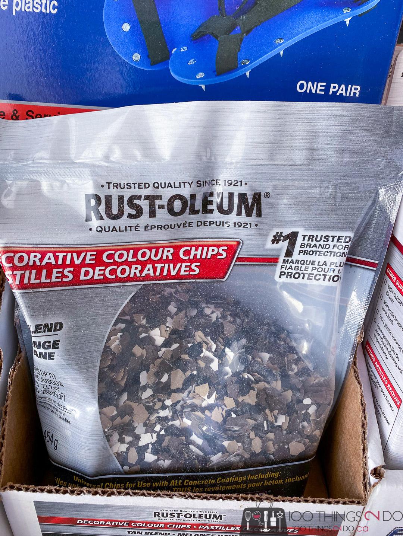 Rust-Oleum decorative colour chips